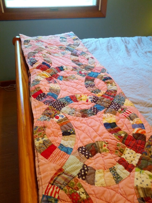 This quilt from Mama  is over 65 years old.