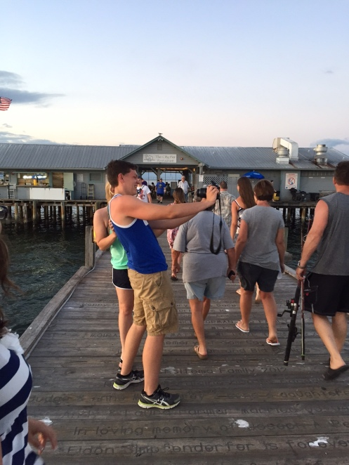 Shenanigans on the pier.